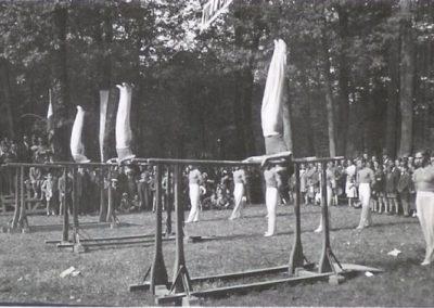 Ginnasti della Robur impegnati in una manifestazione al Parco di Monza